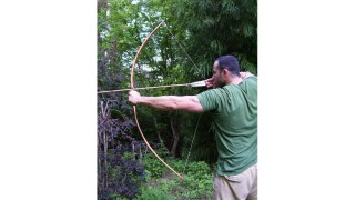 40-lb Sinew-Backed Hickory Bow