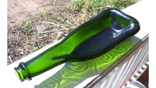 Emerald Green Bottle Dish SOLD