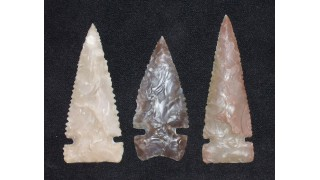 3 Flint Hunting Points (100 grains)