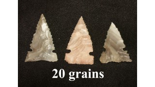 3 Flint Hunting Points (20 grains)
