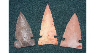3 Flint Hunting Points (80 grains)