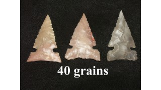 3 Flint Hunting Points (40 grains)