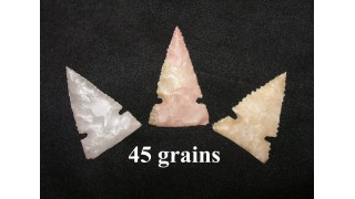 3 Flint Hunting Points (45 grains)