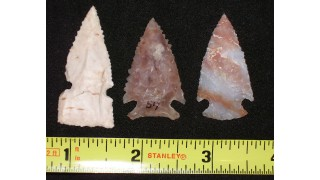 3 Flint Hunting Points (55 grs)