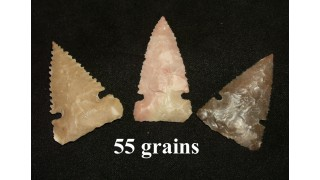 3 Flint Hunting Points (55 grains)