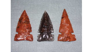 3 Obsidian Hunting Arrowheads (70 grains) SOLD