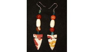 Mook Jasper Arrowhead Earrings (SOLD)
