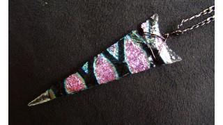Dichroic Glass Arrowhead Necklace 2 (SOLD)