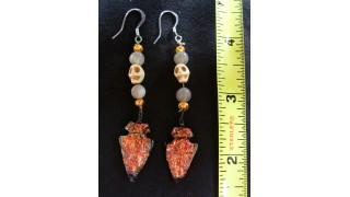 Dichroic Glass Arrowhead Earrings