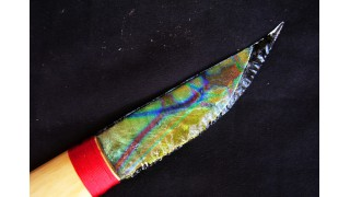 Yellow Dichroic Glass Knife
