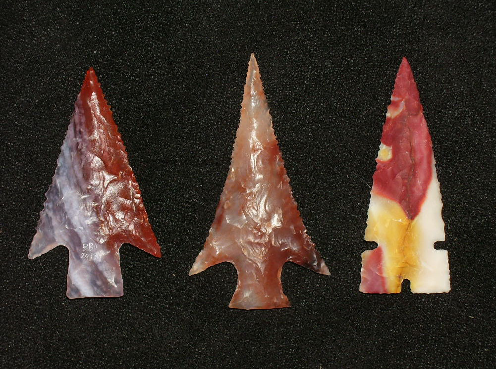 Art points made of exotic stone